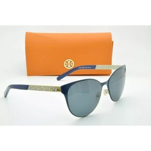 Tory Burch 6046 Sunglasses Navy and Gold